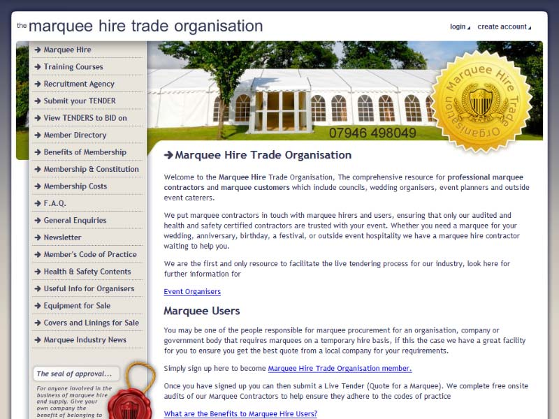 Marquee Hire Trade Organisation